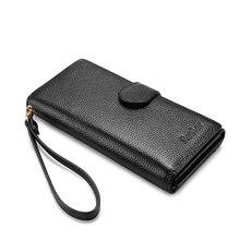 Женский длинный кошелёк из натуральной кожи REALER