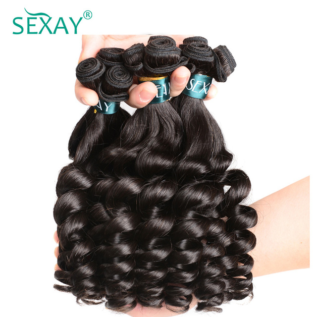 Sexay Brazilian Bouncy Curly 3 Bundles Hair Weave One Pack Remy