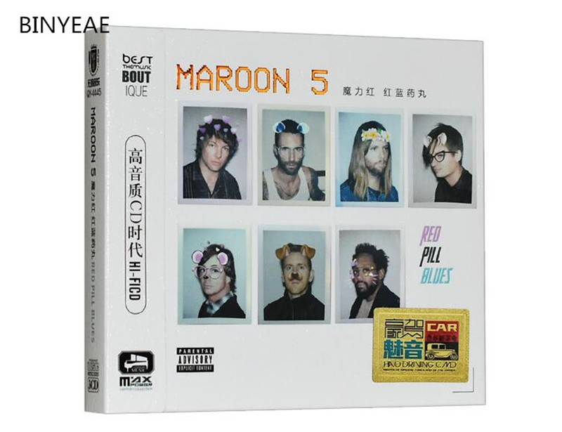 Free Shipping: Maroon 5 Classic Rock Music Album Car 3CD Seal