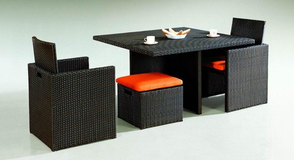 Tavoli In Vimini Da Giardino.Sigma Mobili Da Giardino In Vimini Cubo Set Tavolo Da Pranzo Sedie
