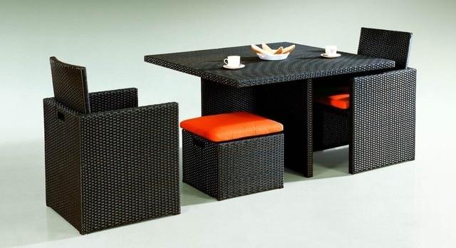 Set Tavolo Da Esterno.Sigma Mobili Da Giardino In Vimini Cubo Set Tavolo Da Pranzo Sedie