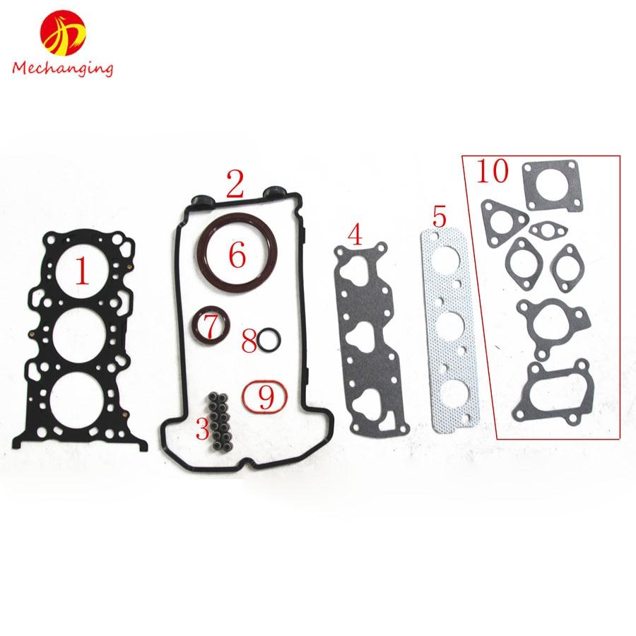 for suzuki alto 0 7 and wagon r 12v k6a full set engine parts engine rebuild kits engine gasket 11402 78838 50272200 [ 900 x 900 Pixel ]