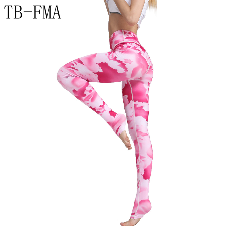 Printed Yoga Pants Women High Waist Fitness Widen Waist Dance Fitness Leggings Compression Sport Tights Yoga Sportswear