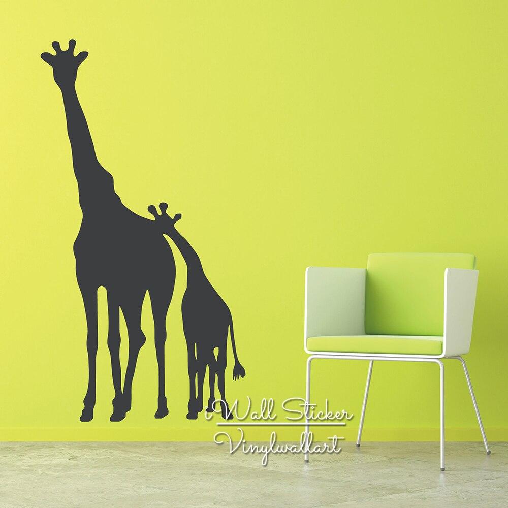 Giraffe Wall Sticker Lovely Giraffe Animal Wall Decal Animal Sticker ...