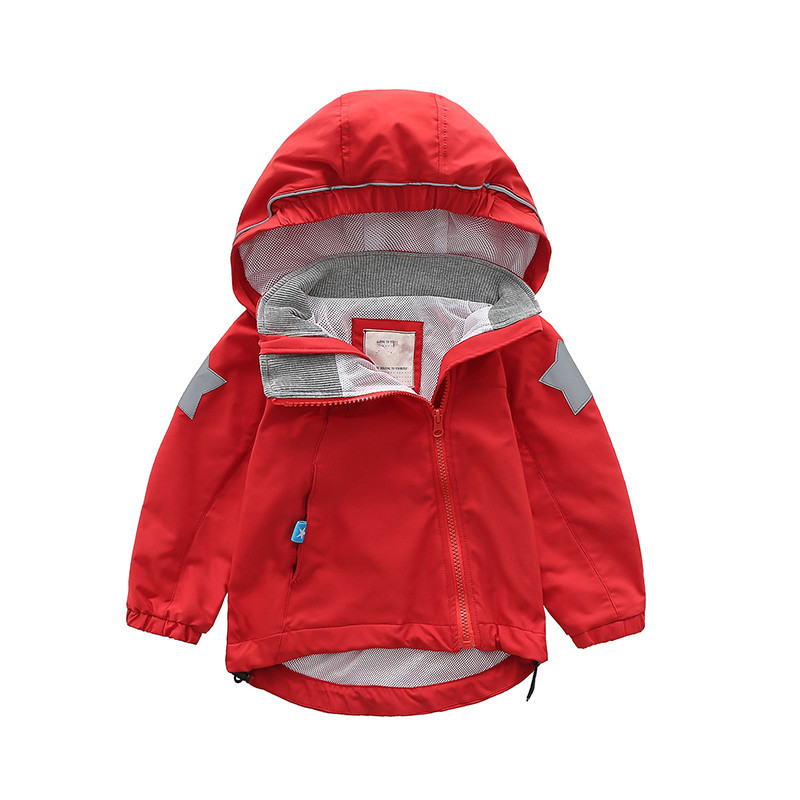 Spring Toddler Girl Kids Jacket Trench Coat Hooded Windbreaker Outerwear Clothes