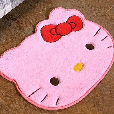 2017 nuovo arrivo rosa ciao kitty tappetino zerbino carino auto tappeti e tappeti per bagno all
