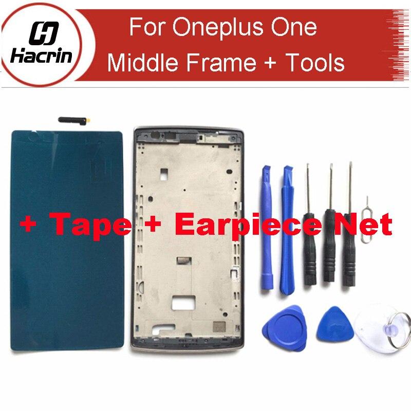 ᐂHacrin para Oneplus uno LCD marco a estrenar LCD medio marco ...