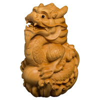 Zodiac hand handle rat cattle tiger rabbit dragon snake horse goat monkey chicken dog solid wood living room ornaments boxwood