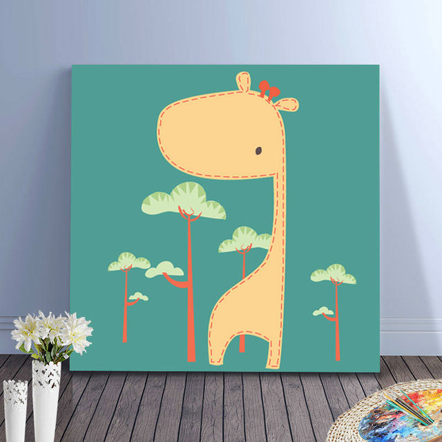 digital paint by numbers Giraffe drawing practice for kids home ...