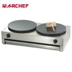 40 см двойной пластины сжиженного газа коммерческих машинка для блинчиков антипригарным блин сковорода гриль