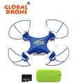 Gw009c-1 global drone rc mini quadcopter con camera2.4g 4ch quadcopter helicóptero de radio control con tarjeta sd y lector de tarjetas