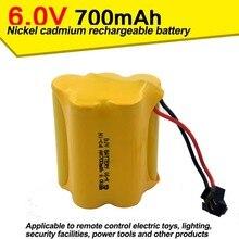 NI CD700mAh 6V amphibian nickel cadmium font b battery b font remote control automobile airplane Electric