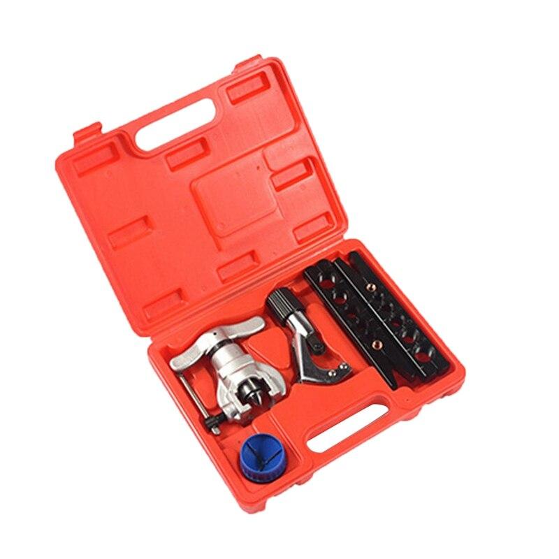 THGS Ct-808 Kit d'outils de torchage de Tube excentrique métrique et pouce Kit d'extension de Tube climatiseur alésoir de tuyau en cuivre 6-19Mm 1/4-3/
