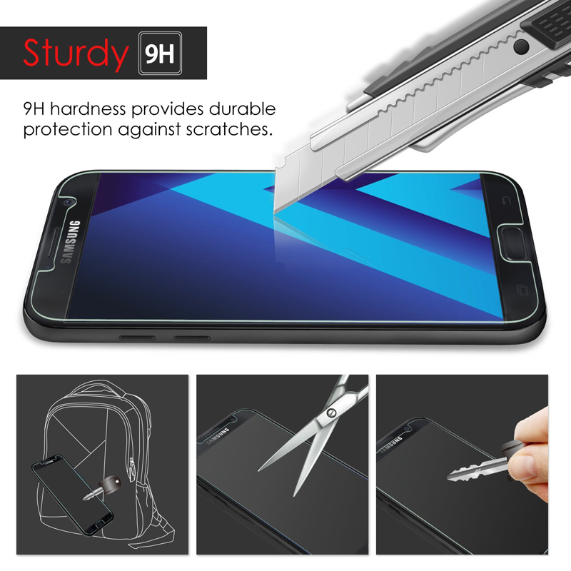 Tempered-Glass-for-Samsung-Galaxy-A5-2017-Screen-Protector-Protective-Film-Cover-2-5D-9H-Explosion