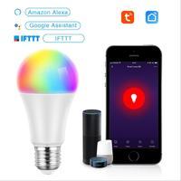 매직 10 w e27 rgb led 전구 스마트 홈 블루투스 램프 색상 변경 디 밍이 가능한 AC85-265V alexa google과 함께 작동
