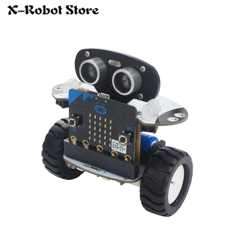 US $60 71 8% OFF|DIY Micro:bit Robot Arduino DIY Qbit Programming  Inteligent Remote Control Car For Kids Robot Toy Mini car-in Action & Toy  Figures