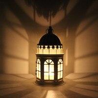 Mode style rustique lanterne de fer décoration de la maison cadeau d'anniversaire de mariage props mousse