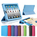 For iPad 2/3/4 Folio Style PU Imitation Leather Stand Cover With Auto Sleep Wake Up  For Apple iPad 4 3 2 Magnetic Flip Case