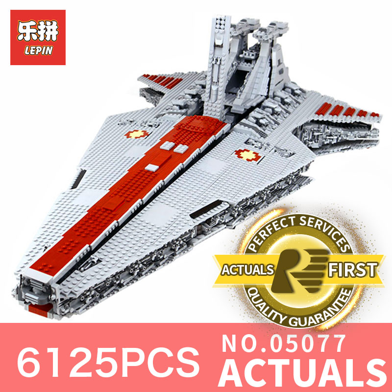 Star Destroyer Wars LegoINGly 6125Pcs Lepin 05077 Classic ucs Republic Cruiser funny Building Blocks Bricks Toys Model Gift lepin 05077 stars series war the ucs rupblic set star destroyer model cruiser st04 diy building kits blocks bricks children toys