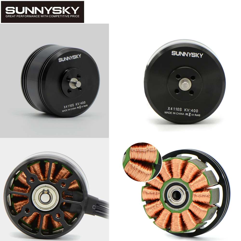 1pcs Original Sunnysky X4110S 340KV 400KV Brushless Motor for Multicopter Quadcopter RC Airplane(New vision) 1pcs sunnysky x1306s 3100kv outrunner brushless motor combo for rc mini quadcopter multicopter qav250 300