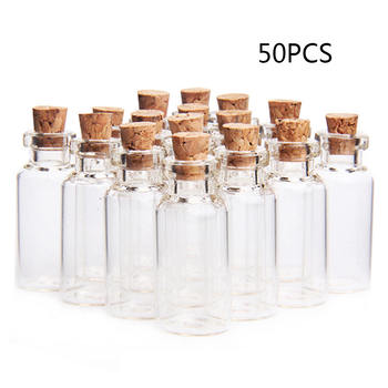 50 pieces 5ml Wish Bottles Mini Empty Clear Glass Bottle With Cork Small Tiny Vials Jars For Wedding Holiday Decoration Crafts недорого
