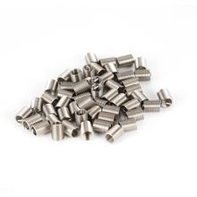 50PCS Threaded Inserts M6 1.0 2.5D Stainless Steel Wire Helicoil Fasteners Hardware Repair Tools Screw Sleeve Set(China)