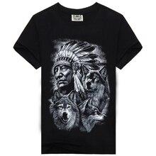2016 новая мода brand clothing 3d индейцы печати футболки o шея С Коротким Рукавом Мальчик Хлопок Мужчины футболки Случайный Человек Тис Мужская топы(China (Mainland))