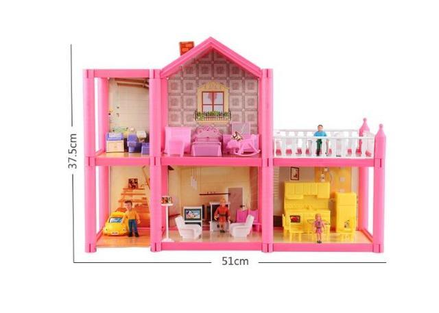 Perfect Girl Toys Handmade Doll House Furniture Miniatura Diy Doll Houses Miniature Plastic  Dollhouse Toys For Children