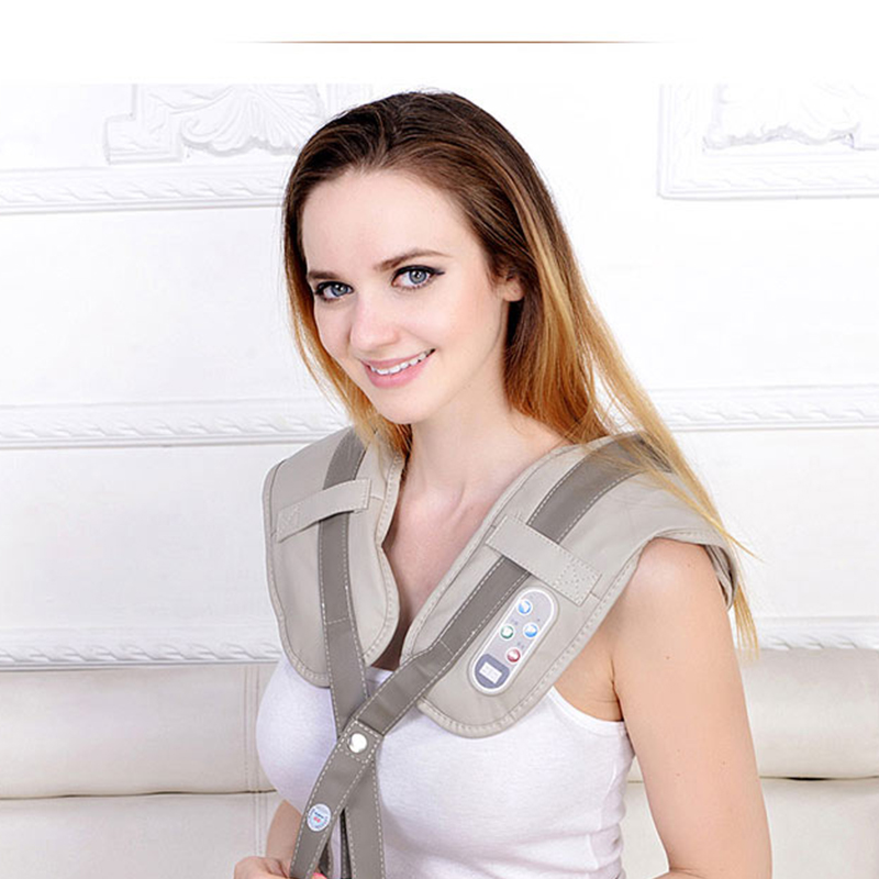 Image 5 - Hot Sale Neck Massager Portable Electric Knocks Cervical Massage Shawls Pain Neck and Shoulder Multi function Tapping Massager-in Massage & Relaxation from Beauty & Health