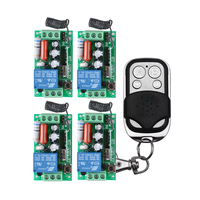 FreeShipping 220V 1CH 1000W RF Wireless Remote Control Switch System Toggle Momentary Latched Light Lamp LED
