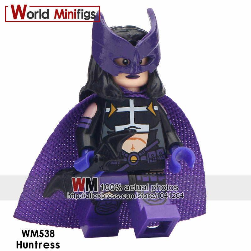 Одиночная Продажа Супер Герои Бэтмен серия Охотница Леопард корова Дэдпул смокинг Бэтмен строительные блоки детские игрушки