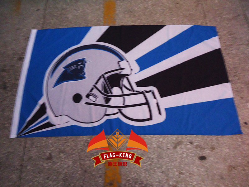Rugby helmet crash helmet flag,American football casque Carolina Panthers Rugby Clubhouse flag, 90X150CM banner,100% Polyester