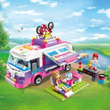 319Pcs Girls Series Walking Tour Wagon Princess Model Building Blocks Figure Compatible with Legoings Friends Toys for Children
