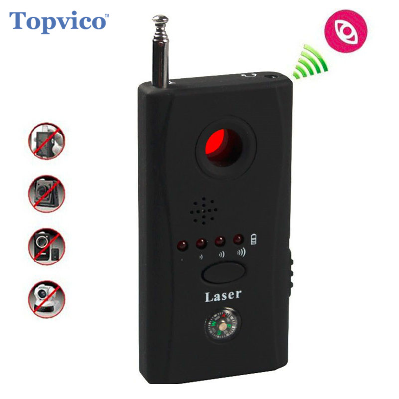 Topvico Full Range Anti - Spy Bug Detector CC308 Mini Wireless Camera Hidden Signal GSM Device Finder Privacy Protect Security 1 pcs wireless signal finder anti spy full range rf camera detector protable gsm sensor mini hidden camera use in hotel