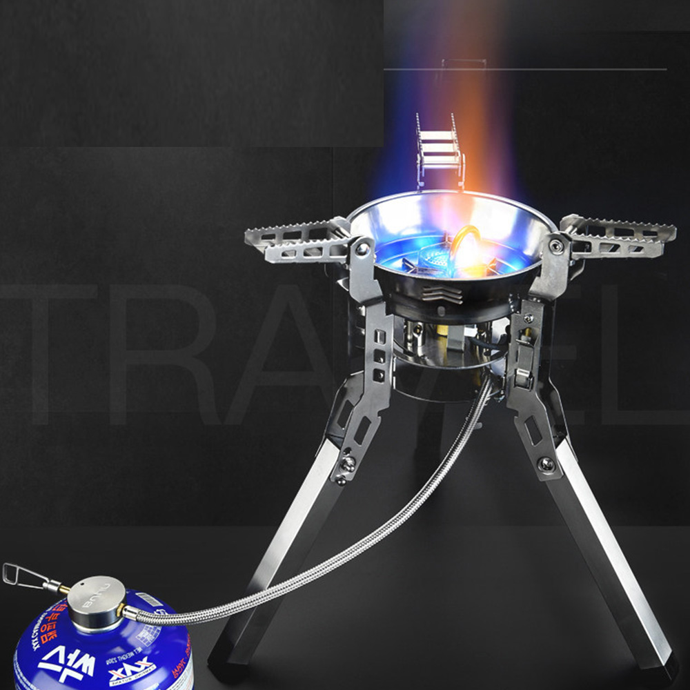 Bulin BL100 B16 наружные сплит газовые горелки плита ветрозащитное Походное оборудование походная печь для пикника складной портативный барбекю снаряжение - 6