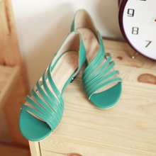 2015 New Women's Gladiator Sandals Summer Style Fashion Roman Sandals Hollow Low Heel Shoes Woman Ladies Casual Flats XWZ110