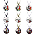 The Nightmare Before Christmas Necklace Jack And Sally Couple Lover's Necklace Christmas Valentine's Day Gifts Women Men Jewelry