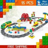 152 шт. мой первый Вилль люкс поезд высокоскоростные рельсы мост фигура Строительные блоки игрушки совместимы с LegoING Duplo