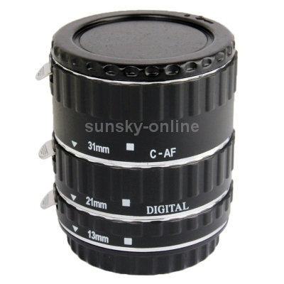 Auto Macro Extension Tube Set for Canon DSLR, Material: Copper