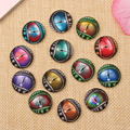 Mix Dragon Eyes Photo Round Glass Cameo Cabochon 12mm 10mm 14mm 18mm 20mm 25mm diy earrings jewelry accessories