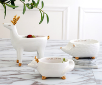 Nordic Animal Modeling Key Storage Box Candy Dish Dried Fruit Plate Creative living room Sundries Storage Ornaments 02