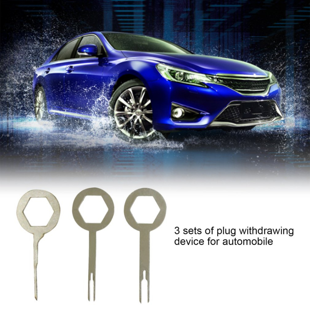 Professional 3pcs Set Auto Car Plug Terminal Extraction Pick Back Wire Harness Terminals Remove Tool Needle Repair Pin Is The Most