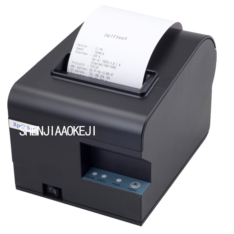 Thermal printer small note printer Cash register printer Portable USB interface printer 220V printer youtube