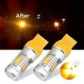 2PCS T20 W21W 7440 LED Amber Yellow High power led Back-Up Reverse Turn Signal Light Bulbs