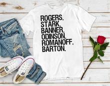 Captain America T Shirt Rogers Stark Banner Odinson Romanoff Barton Avengers Endgame  funny tee women unisex slogan tops