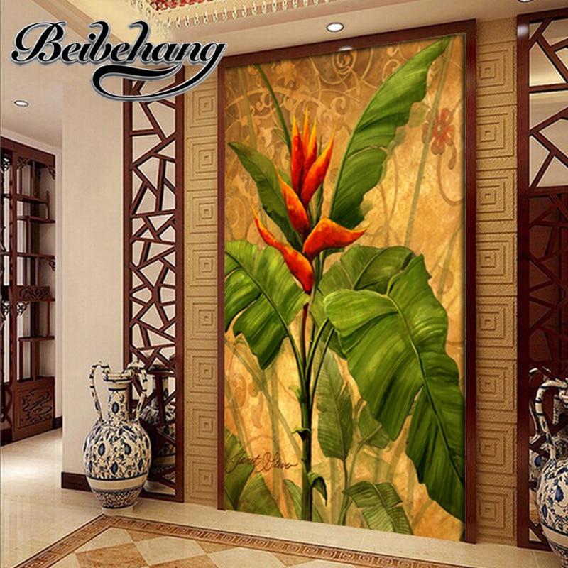 Beibehang 3d fresco custom european oil painting banana for Alabama wall mural