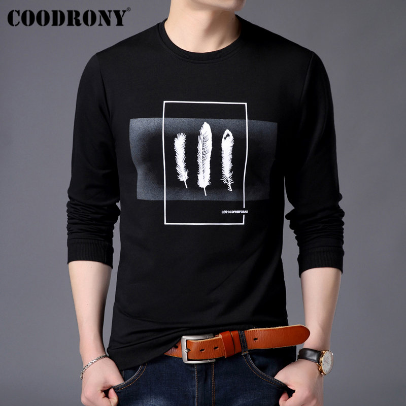 COODRONY Mens Hoodies 2019 New Arrivals Streetwear Sweatshirt Men Spring Pullover Hoodie Men Fashion Print Sweatshirts Men 94003