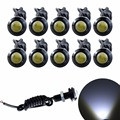 10pcs High Brightness DRL 23mm Eagle Eye Daytime Running Light Waterproof Parking Lamp LED Car Work Lights Source Car Styling CD