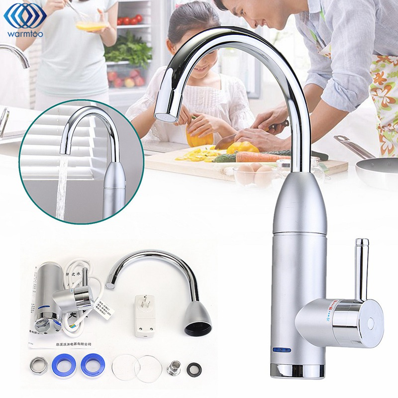 Kitchen Water Heater 3000W Instant Heating Electrothermal Faucet Leakage Protection Wall Mounted Bathroom Washroom