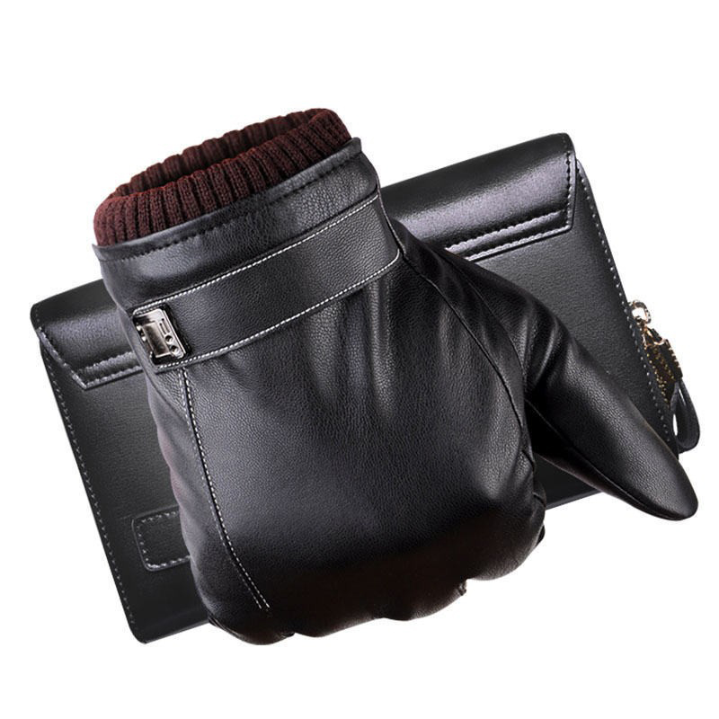 Унисекс Одежда высшего качества из натуральной кожи Прихватки для мангала для Для мужчин Термальность зима Сенсорный экран овчины перчатк...